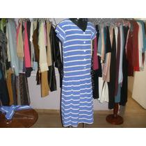Lindo Vestido Em Seda Listrado By Liz Clairbone