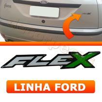 Emblema Adesivo Flex Fiesta Ka Ecosport Courier Focus Ford