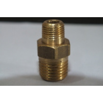 Niple Macho X Macho - 1/4 Npt X 3/8 Npt - Aço - Ar Comprim