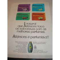 ( L - 290/ G ) Propaganda Antiga Sabonetes Atkinsons