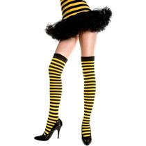 Meia 7/8 Listrada Preta E Amarela Leg Avenue Fantasia Abelha