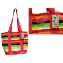 Autentica Bolsa Roxy Beachin It Tote Colorfull P/entrega