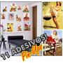 Kit 11 Adesivos Pin-ups Para Geladeira/parede Retrô Vintage