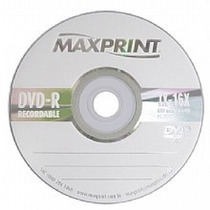 50 Midia Dvd-r Virgem Maxprint C/logo 8x/16x Max Print 4.7g