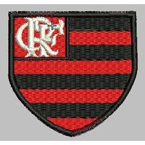 Bordado Termocolante Time Flamengo 8cm X 7cm