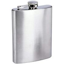 Cantil Inox Porta Bebida 200ml P/ Whisky Garrafa De Bolso