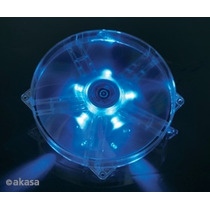 Cooler Fan 180mm Akasa Ak-f1825sm-cb Transparente C Led Azul
