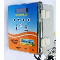 Ionizador Para Piscina Ouro Preto + Cuba + Kit Cobre Digital