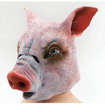 Máscara Porco Real Látex Realística Palmeiras Nova Cavalo