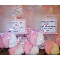 Mini Pezinhos De Sabonete No Tule C/ Tag E Fitinha De Cetim