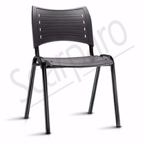 Cadeira Para Igreja Iso Fixa Cor Preta