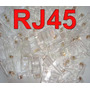 Pacote 100 Conector Rj45 P/ Rede Lan Plug Rj 45 Menor Preço.