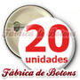 20 Botons Broches Button Bottons Botton Personalizados 4,5cm