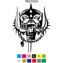 Adesivo Decorativo Rock Heavy Metal Motorhead Caveira Skull