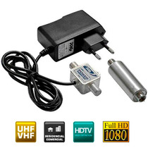 Mini Booster Amplificador Uhf 40db Digital Analógico Hdtv Hd