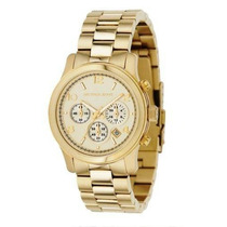 Relógio Michael Kors Mk5055 Gold Midsized Original, Garantia