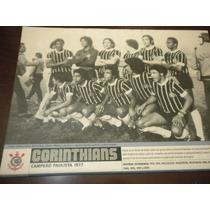 Poster Corinthians Campeão Paulista 1977 21x27 Cm Placar