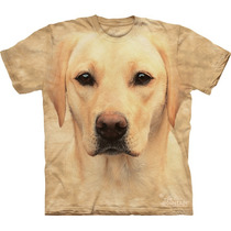 Camiseta Cão Cachorro Labrador Amarelo Face - The Mountain
