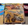 Soldado Com Motocicleta Buba Exército Militar + Acessórios