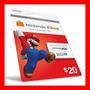 Card Nintendo 3ds Wii U Eshop Cash Card $20 Envio Imediato