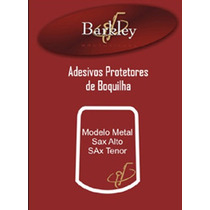Kit 5 Adesivos Barkley Protetor Boquilha Metal Sax Alto