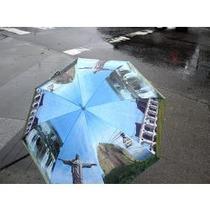 Guarda-chuva Fotos Do Rio De Janeiro - Pequeno C/ Cabo Reto