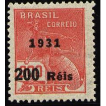 Brasil 1931- O Raro Sobrecarga 200 Réis Sob 300 Com Filig.d