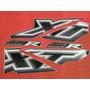 Faixas Adesivos Carenagens Abas Tanque Xt 660 Preto 05/06
