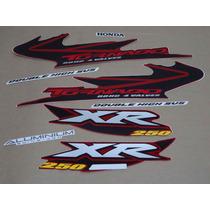 Kit Adesivos Honda Xr 250 Tornado 2004 Vermelha - Decalx
