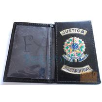 Carteira Capa Porta Funcional Justiça Juiz Arbitral Oab M14p