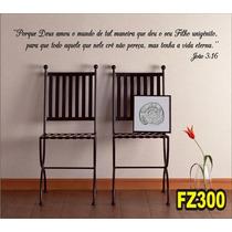 Adesivo Decorativo De Parede Frases Bíblicas Fz300