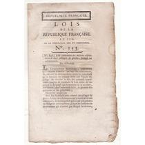 Revolução Francesa Ano Iii 1795 Coletânea De Leis: Convenção