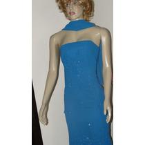 Vestido De Festa Azul Bebe Tomara Que Caia