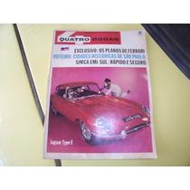 Revista 4 Rodas -- História Do Porsche Ferrari - Agosto 1966