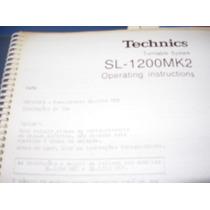 Manual Technics Sl1200 Mkii Instrução Traduzido E De Serviço