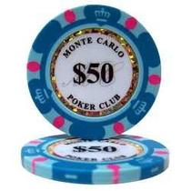 Fichas De Poker Monte Carlo 14 Gms Clay Lote C/ 25 Uns