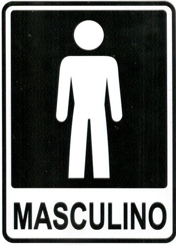 Ps5 Placa Banheiro Feminino E Masculino 2 Placas Pvc  R$ 14,90 em Mercado Livre -> Banheiro Feminino E Masculino Para Imprimir