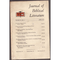 Bíblia - Journal Of Biblical Literature - Estudos Bíblicos