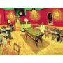 Mesa Sinuca Bar Restaurante Reprodução De Van Gogh Na Tela