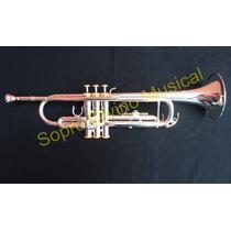 Trompete Sib Prateado Dourado Hoyden Htp 50a4p
