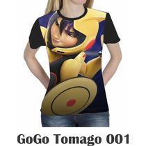 Camiseta Blusa Básica Big Hero Gogo Feminina Disney 004