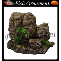 Enfeite Resina Soma Rocha Duo Land 40 Fish Ornament