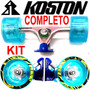 Kit Truck Invertido 180mm Roda Gel 83mm 85a Abec Longboard