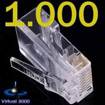Conector Rj45 Pacote 1000 Unid Cabo Rede Lan Plug Ethernet