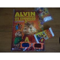 Álbum Alvin E Os Esquilos 3 Vazio + 40 Envelopes Lacrados