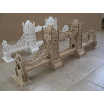 Ponte De Londres, London Bridge - Puzzle 3d P/ Montar Mdf
