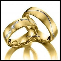 Par Alianças 10 Grs Ouro18k/ 750 Diamantes Frete Nota Fiscal