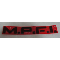 Emblema Mpfi - Vermelho - Monza/kadett- Mmf Auto Parts