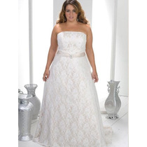 Vestido De Noiva Em Renda Plus Size Tamanhos Grandes