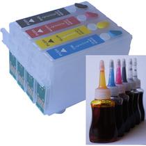 Bulk Ink Tx125 T25 Tx123 Cartuchos Recarregáveis 180ml Tinta